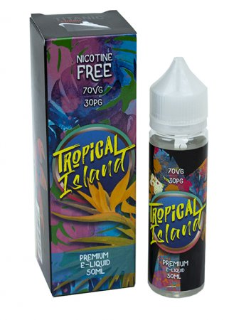 Titanic VG Liquid Tropical Island Flavour Vape Juice 50ml Bottle Nicotine Free