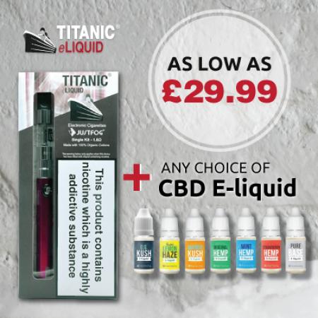 Titanic C14 900mah Starter Kit with CBD Oil E-liquid