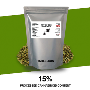 Art of CBD Processed Hemp Tea: Harlequin - Processed Cannaboid Content 15% - 10g