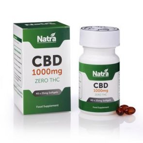 Natra CBD 1000mg Soft Gel Capsules