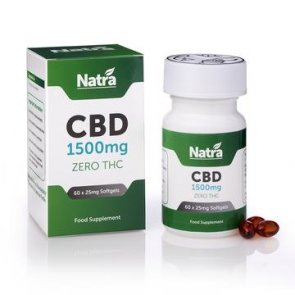 Natra CBD 1500mg Soft Gel Capsules