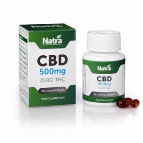 Natra CBD 500mg Soft Gel Capsules