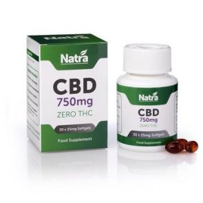Natra CBD 750mg Soft Gel Capsules