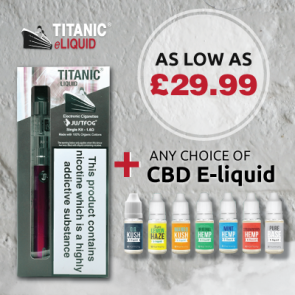 Titanic C14 900mah Starter Kit with CBD Oil E-liquid