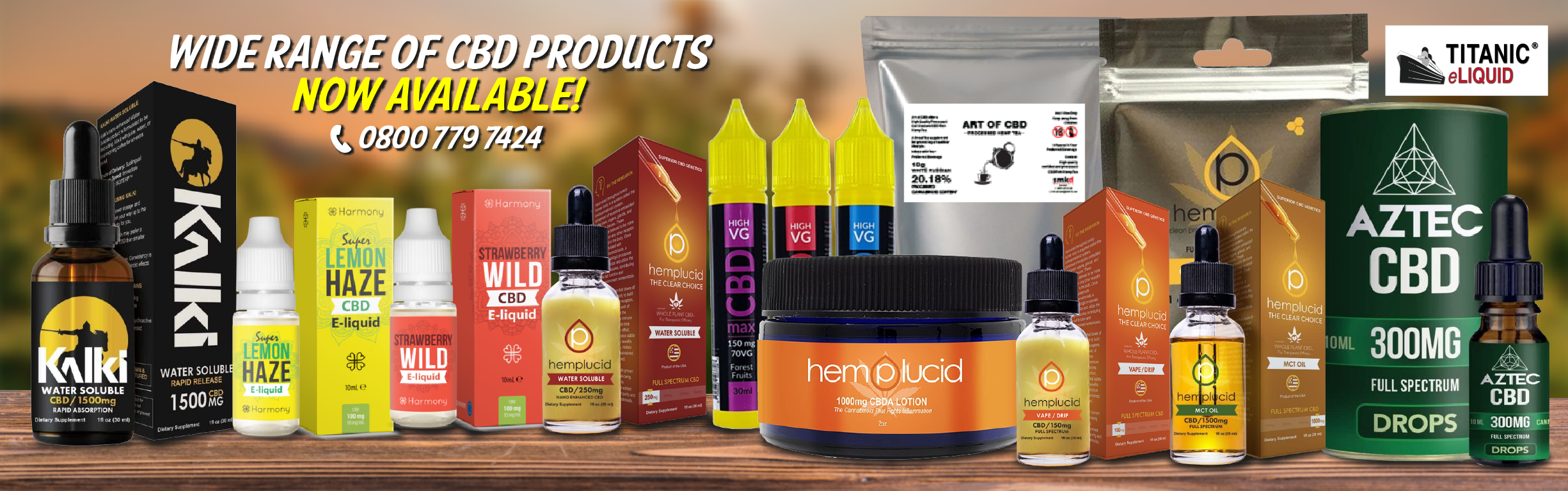 New Wide Range of CBD Products!