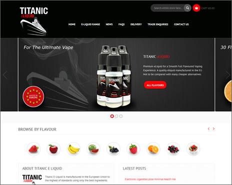 Titanic E-Liquid Website Launch Feb 2014